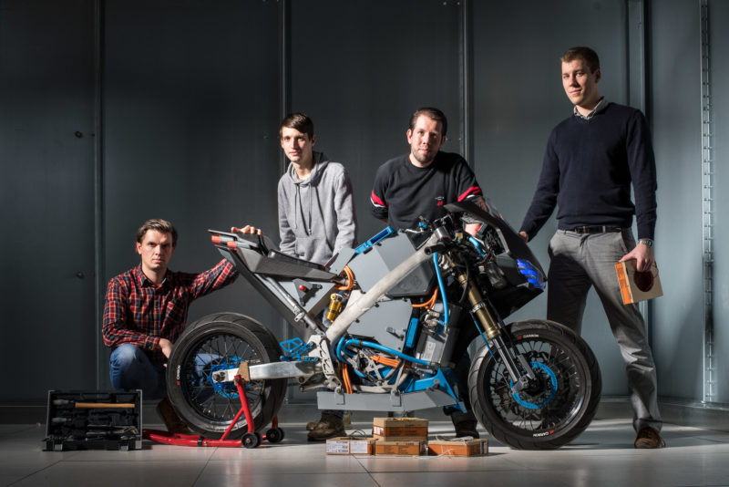 Technology photography: Gauss project: Development of an electric motorcycle at the Technical University Darmstadt.