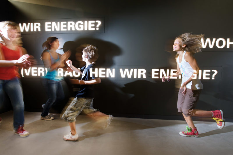 Editorial photography: At the newly opened Heilbronn Experimenta children learn playfully the importance of energy consumption.