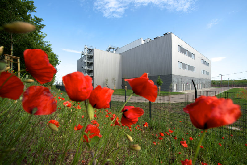 Technology Photography: One of the newest data centers in Biere close to Magdeburg, Germany provides modern technology for reduced power consumption.