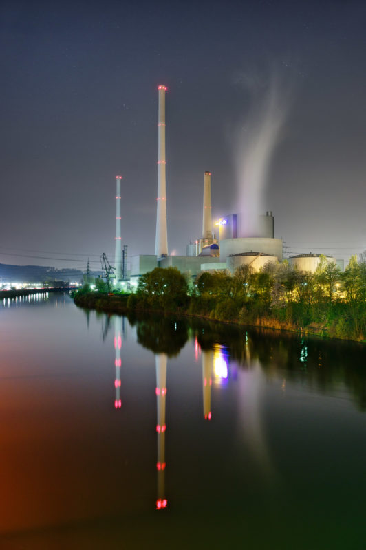 Technology photography: Industrial photography: This coal power plant in Altbach / Deizisau has an efficiency of 43.8 percent.