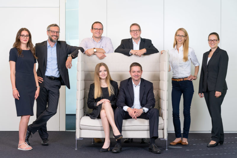 Portrait photography - Portrait of a manager of a large software company: Sometimes group pictures of the whole team are needed.