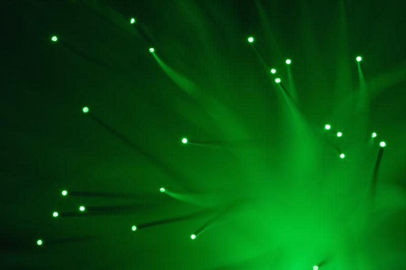 Studio photogaphy: Studio photography: Fiber optic cables glow in the dark.